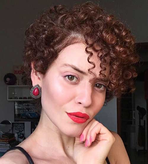 Short Curly Asymmetrical Styles