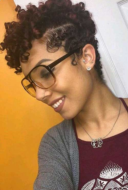 Short Haircuts for Curly Black Ladies