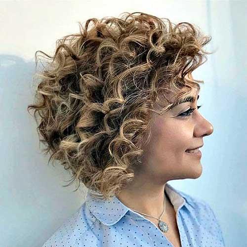 Short Curly Bob Styles