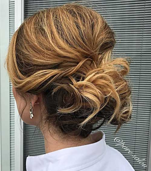 Short Curly Updo Styles