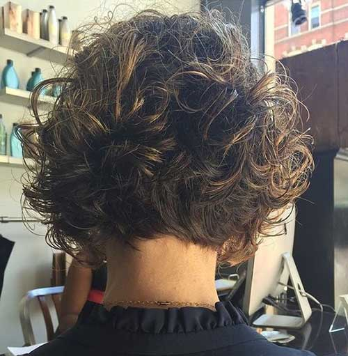 Short Curly Layered Styles