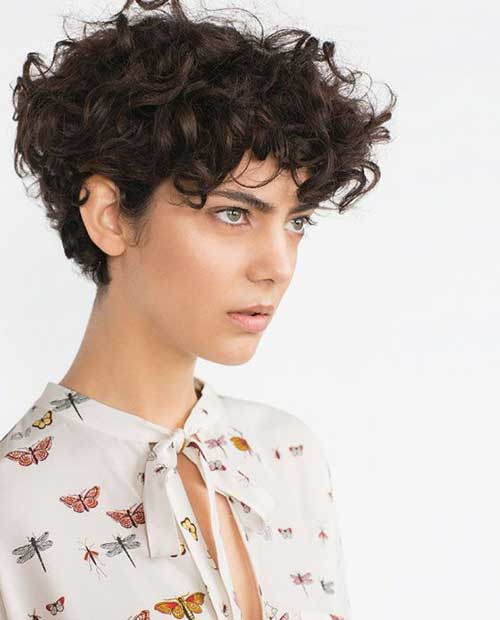 Short Curly Pixie Styles