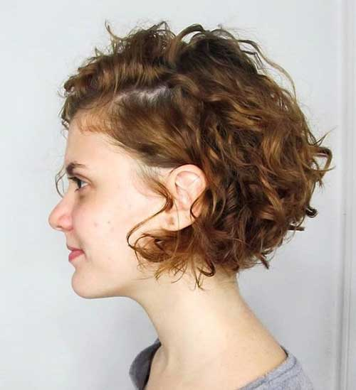 Short Curly Side Swept Styles
