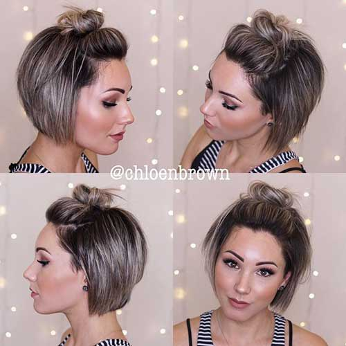 Short Updo Styles for Working Out