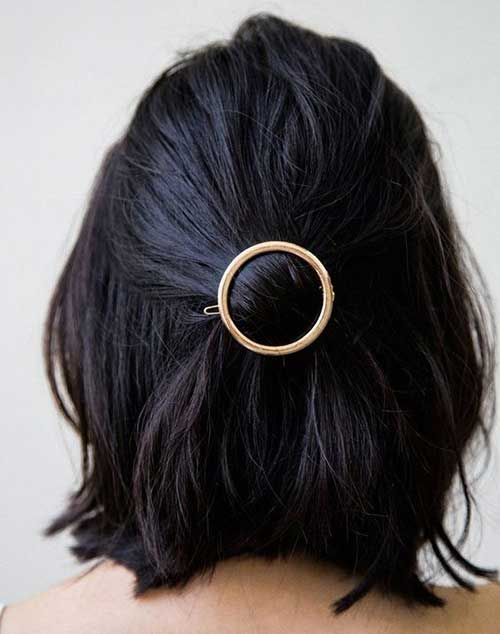 Short Updo Styles with Accessory