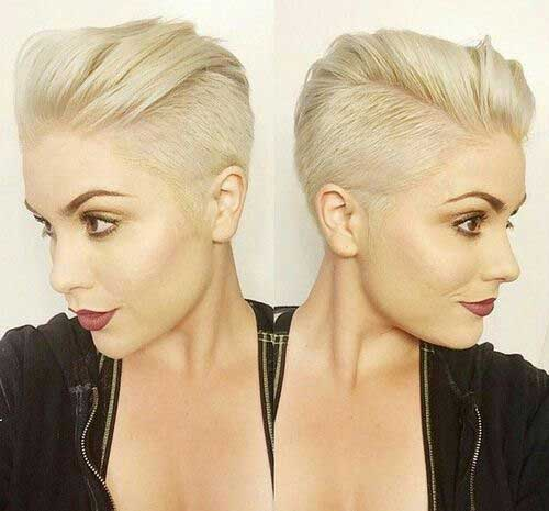 Shaved Blonde Pixie Haircuts