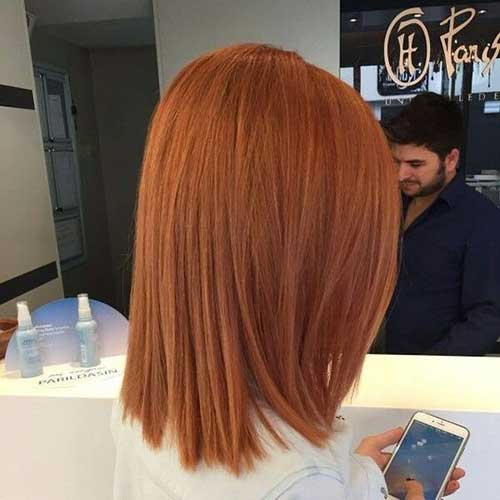 Short Straight Ginger Hairstyles 2020