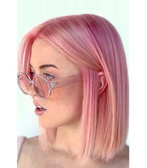Short Straight Pink Hairstyles 2020