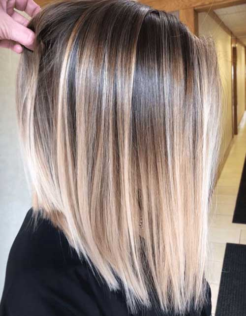 Blonde Bob Highlights with Dark Roots Styles