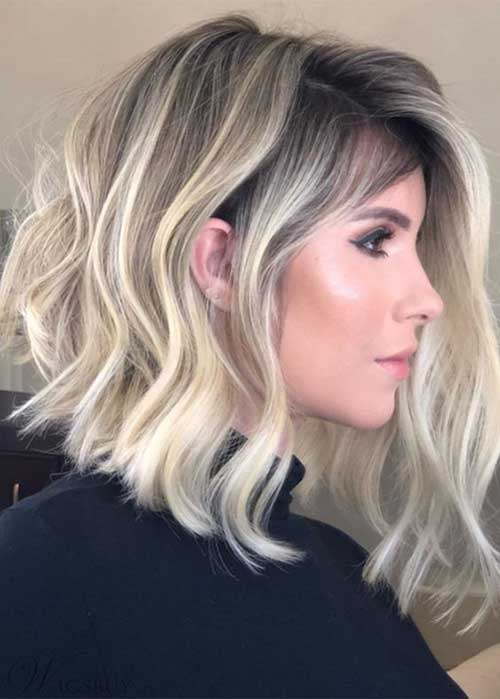 Blonde Color Bob Styles