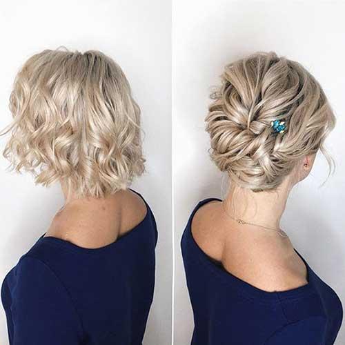 Short Bridal Updo Hairstyles