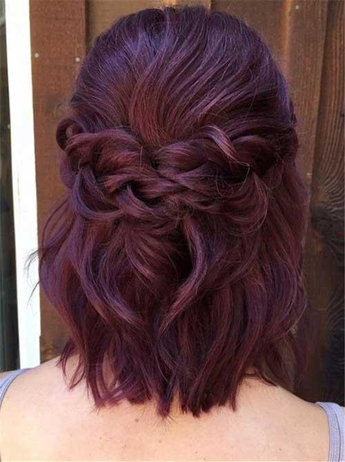 Short Bridal Half Up Half Down Hairstyles