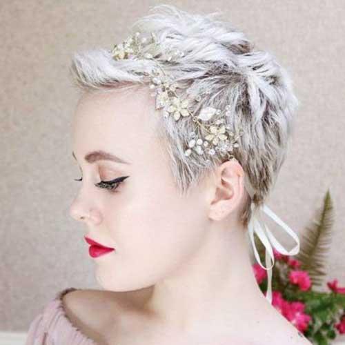 Short Bridal Pixie Hairstyles