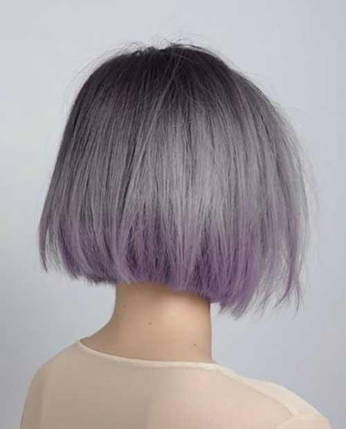 Gray Straight Bob Hairstyles