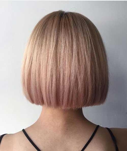 Pink Straight Bob Hairstyles
