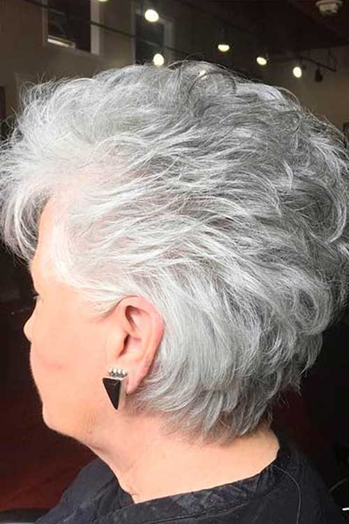 Short Grey Haircuts for Over 50