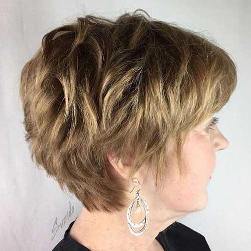 Short Thick Haircuts for Over 50
