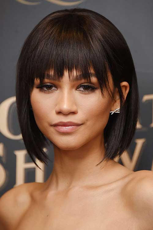 Straight Bob Hairstyles with Bangs
