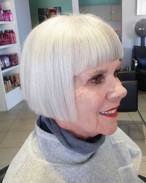 Straight Short Haircuts for Over 50