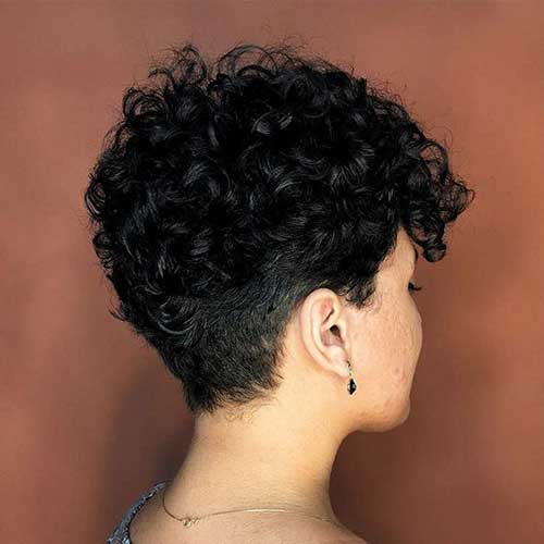 Curly Pixie Hairstyles for Thick Hair-9