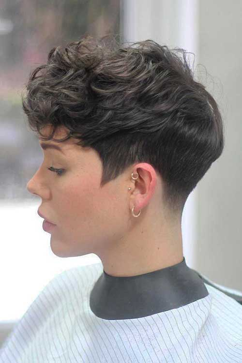 Curly Pixie Cuts with Bangs