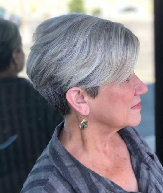 Short Angled Haircuts for Women Over 60