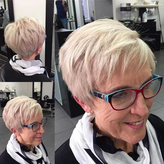 Short Blond Haircuts for Women Over 60