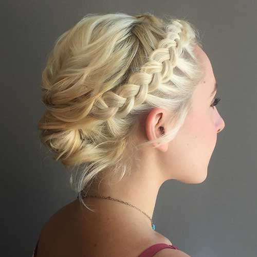 Short Blonde Braid Hairstyles 2020