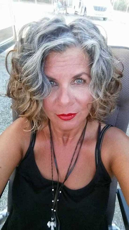 Short Curly Haircuts for Women Over 60