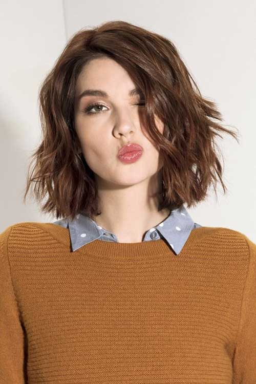 Short Haircuts for Frizzy Brown Hair