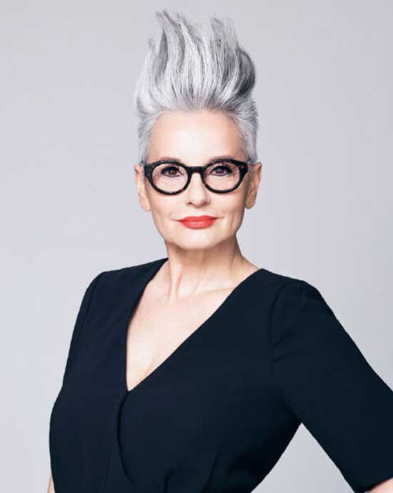 Short Silver Haircuts for Women Over 60