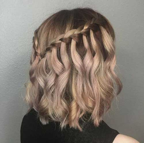 Short Waterfall Braid Hairstyles 2020