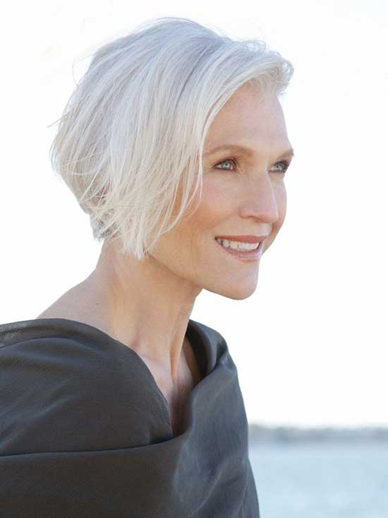 Short White Haircuts for Women Over 60