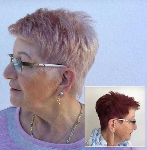 Very Short Feathered Hairstyles for Older Ladies-12