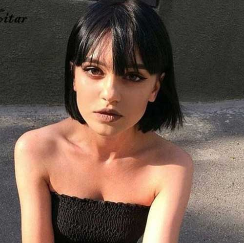 Short Styles with Bangs for Fine Hair-13