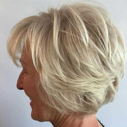 Short Layered Hairstyles for Older Ladies-13