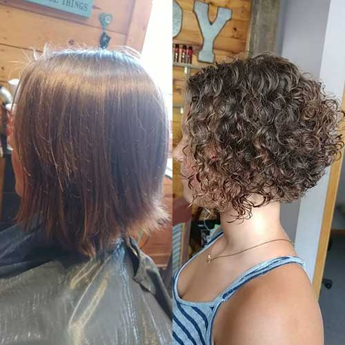 Curly Jaw-Length Bob Styles-16