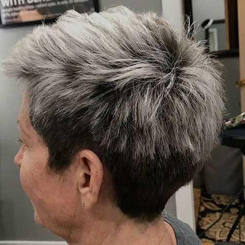 Very Short Undercut Hairstyles for Older Ladies-22