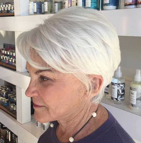 Short White Hairstyles for Older Ladies-24