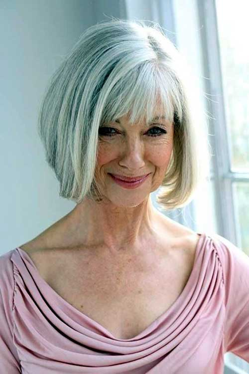 Short Hairstyles with Bangs for Older Ladies-29