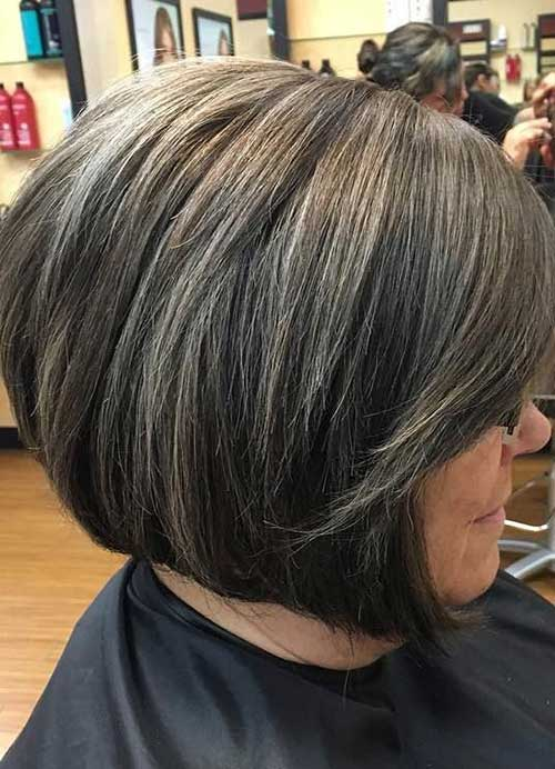Short Gray Hairstyles for Older Ladies-6