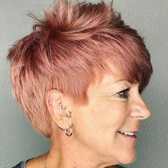 Short Red Hairstyles for Older Ladies-7