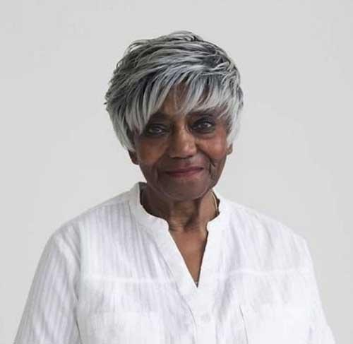 Very Short Hairstyles for Older Black Ladies-9