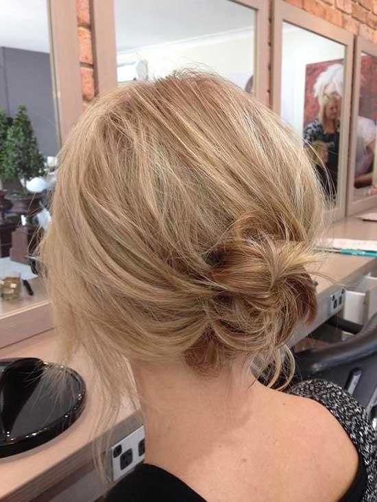 Bridal Short Bun Hairstyles