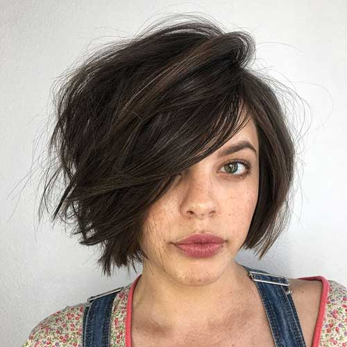 Brunette Bob Haircuts for Thick Hair