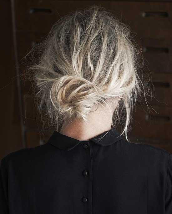 Cute Short Bun Hairstyles