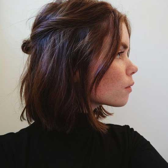 Grunge Short Bun Hairstyles