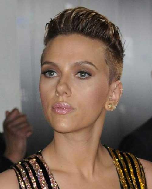 Scarlett Johansson Cute Pixie Cuts