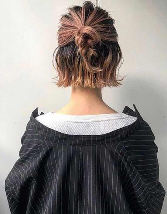 Short Bun Bob Hairstyles