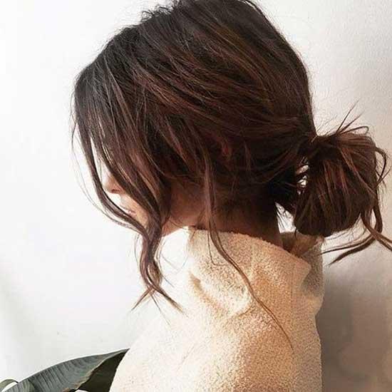 Short Low Bun Hairstyles